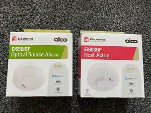 Aico Optical Smoke Alarm - Heat Alarm Battery Operated Ei650iRF - Ei603RF