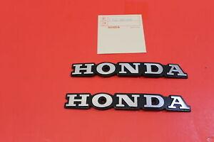 HONDA AFTERMARKET LEFT & RIGHT Side Fuel Gas Tank Emblem 1977-1978 Honda CB750K