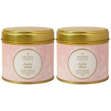 2 x Shearer Candles Home, Amber Blush, Large Scented Tin Candle - 40 Hour Burn