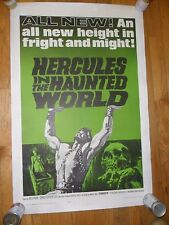 Hercules in The Haunted World ORIG 1964 1-SHEET LINENBACKED POSTER Chris Lee