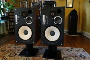 JBL L100 Century Speakers Made in USA Audio Legend with New Grills Boxes Stands