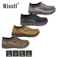 Men's Casual Leather Driving Shoes Non-Slip Breathable Loafers Penny Moccasins