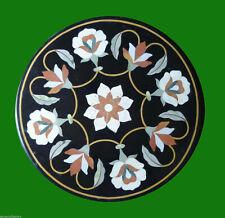 "24""x24"" Marble coffee table Top Pietra dura Inlay art handicraft room decor"
