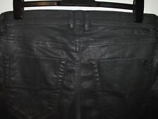 Diesel tepphar slim-carrot jeans coated leather style 084BF stretch W32 L32 3814