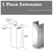 Zline Wall Chimney Extension 10 ft ceiling Outdoor models 697-304, 667-304