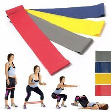 Fitness 4Pcs Resistance Loop Exercise Yoga Home Gym Training Bands Tube Set NEW