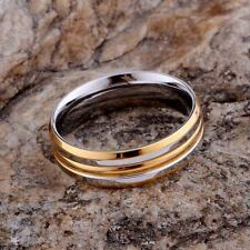 -UK-  Silver Plated and Gold Ring Size 8, Couples Gift, Love