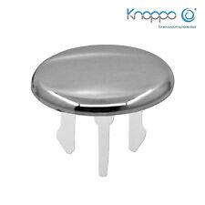 2er Set Waschbecken Überlaufblende / Überlauf Design Abdeckung - Cap (chrom)