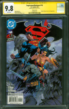 Batman Superman 10 CGC SS 9.8 Jim Lee Signed Variant Cover Michael Turner art