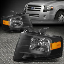 For 07-14 Ford Expedition Black Housing Amber Corner Headlight Replacement Lamp (Fits: Ford Expedition)