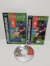 Olympic Soccer Sega Saturn TESTED PAL US Gold