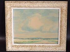 Albert Pütz (1886-1961), belle Aquarelle, Paysage, Lande, entre 1930 et 1950