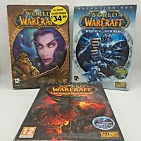 World of Warcraft 4 Disc PC Game + Manual & Cataclysm & Wrath of the Lich King