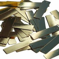 Gold Metallic Sequin Skinny Rectangle 1.5 inch Couture Loose Paillettes
