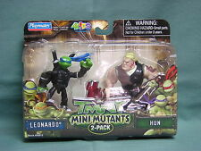 TEENAGE  MINI MUTANT NINJA TURTLES 2 PACK  LEONARDO & HUN
