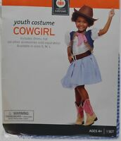 Halloween Youth Western Rodeo Cowgirl Dress Costume Size Medium 6-8 NWT