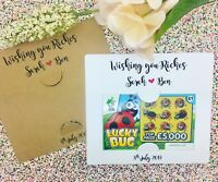 Scratch Card Holders, Lottery Ticket, Wedding Party Favours, Wishing You Riches