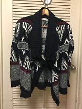 Abercrombie & Fitch Patterned  Non Closure Cardigan Size XS Navy