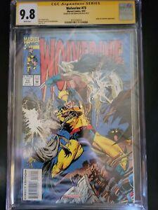 Wolverine #73 CGC Signatures Series 9.8 Joe Rubinstein auto 1993 white pages.
