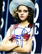 Jodie Foster Signed 8X10 Photo Taxi Driver Silence Of The Lambs Autograph Coa C