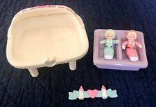 Vintage Playskool Dollhouse Twins Baby Girls Babies