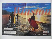 2003 Print Ad Winston Cigarettes ~ Surf Board Surfers Sunrise Meeting