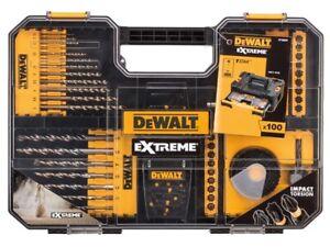 Dewalt DEWDT70620T Extreme Drill, Impact & SDS Set 100 Piece + Carry Case