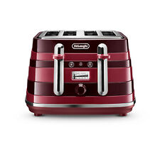 De'Longhi Avvolta Class 4 Slice toaster in Red. CTAC4003.R Box Damaged Stock