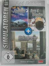 Flughafen + Berg- & Tunnelbau + Wolkenkratzer Simulator - Simulation Sammlung
