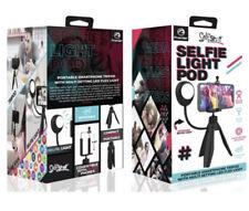 Premier Self Shot Selfie Light Pod Desktop Smartphone Tripod with LED Flex Light