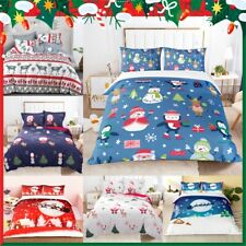 Single Double Queen King 2020 New Christmas Xmas Quilt Doona Duvet Cover Set