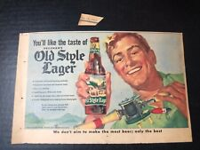 1953 Heileman's Old Style Lager beer print ad 10.5x6.5�