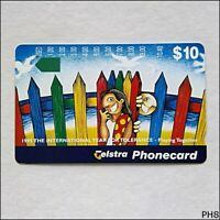 Telstra 1995 Year For Tolerance Play Together N953223a 921 $10 Phonecard (PH8)
