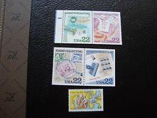 ETATS-UNIS - timbre yvert et tellier n° 1615 a 1618 aerien 111 n** (TU) stamps