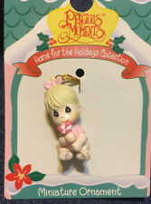 Precious Moments Miniature Ornament Baby Girl Candy Enesco Home For The Holidays