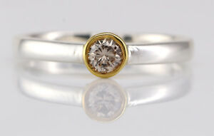 0.22 Ct Natural Certified Diamond Gold Ring SDR 9