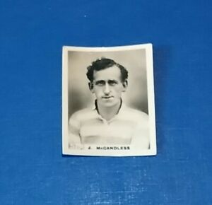 BRADFORD FOOTBALL CLUB 1920s PINNACE B + W  PHOTO CARD J McCANDLESS # 579 BFC