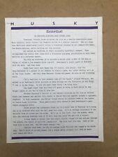 University Of Washington Vintage Basketball Sports Letter 1986 Al Moscatel