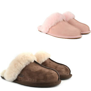 Womens Ugg Scuffette II Slipper Sheepskin Slip On Shoes NEW