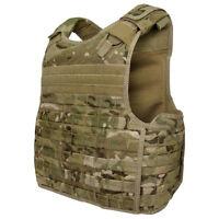 CONDOR MOLLE Nylon Quick Release Plate Carrier Armor Vest qpc - MULTICAM CAMO