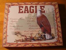 BALD EAGLE SPECIES CANVAS ART PRINT Rustic Lodge Log Cabin Wall Decor Sign NEW