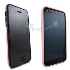 Pellicola+BUMPER rosa+nero per iPhone 5 5s custodia cover display bordi lati