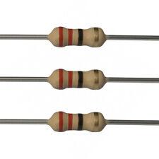 25 x 22 Ohm Carbon Film Resistors - 1/2 Watt - 5% - 22R - Fast USA Shipping
