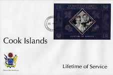Isole Cook 2011 FDC Lifetime servizi IV foglio COPERTURA REGINA ELISABETTA Philip