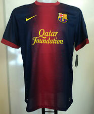 BARCELONA 2012/13 S/S HOME SHIRT BY NIKE SIZE EXTRA /SMALL BOYS BRAND NEW