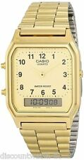 Casio AQ230GA-9B Mens Casual Classic Analog Digital Gold Watch Alarm Stopwatch