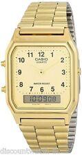 Casio AQ230GA-9B Mens Casual Classic Analog Digital Gold Watch Alarm Stopwatch