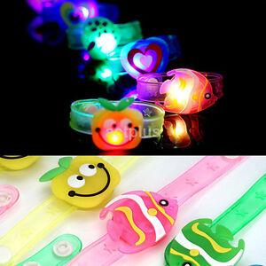 1X Flashing LED Light Glow Bracelet Kids Gift Costumes Birthday Party Wrist Toys