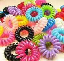 New 20pcs Elastic Telephone Wire Cord Head Ties Hair Band Rope FFS
