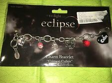 NECA Twilight Saga Eclipse Edward Cullen Crimson Charm Bracelet New